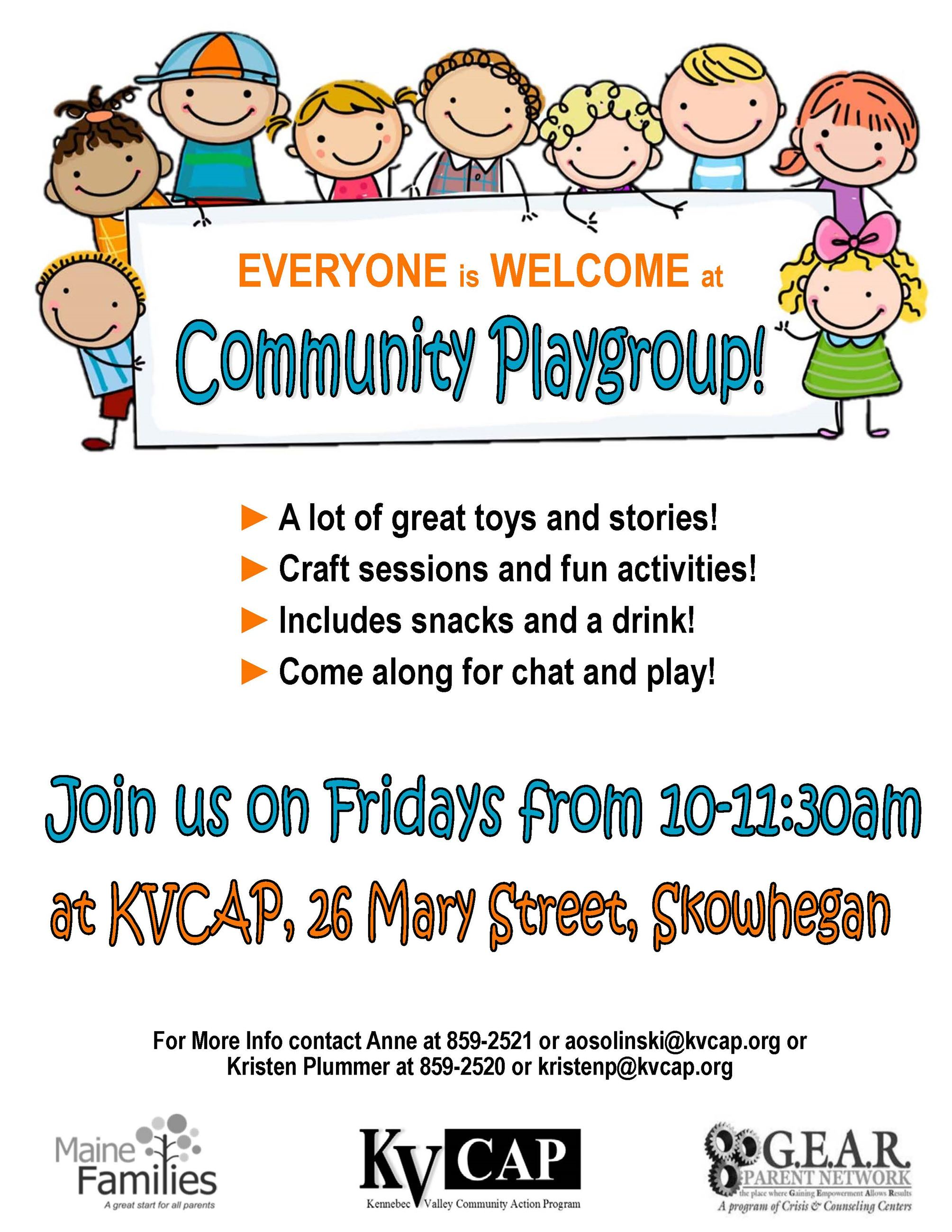 2018 Skowhegan Community Playgroup