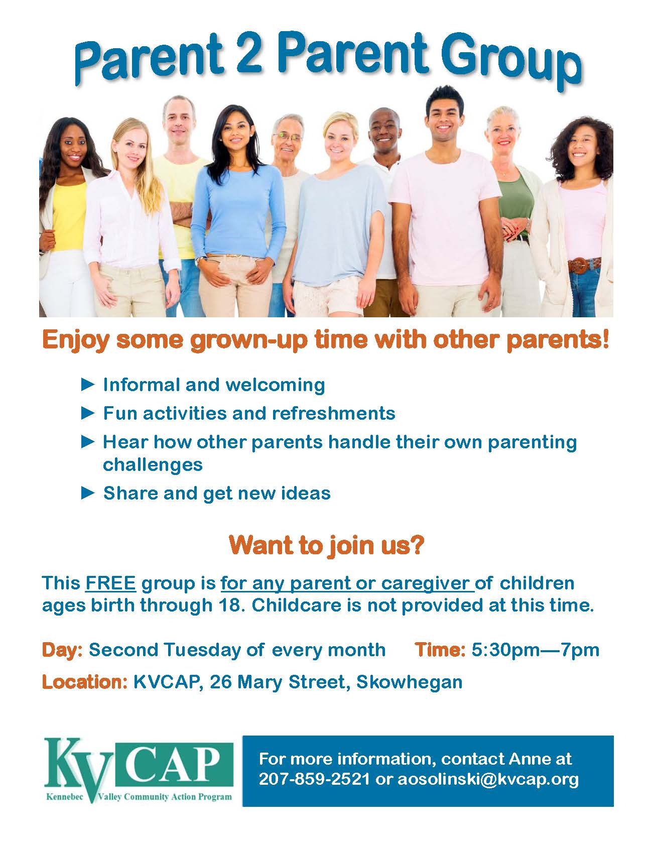 Parent support group flyer 2-2018