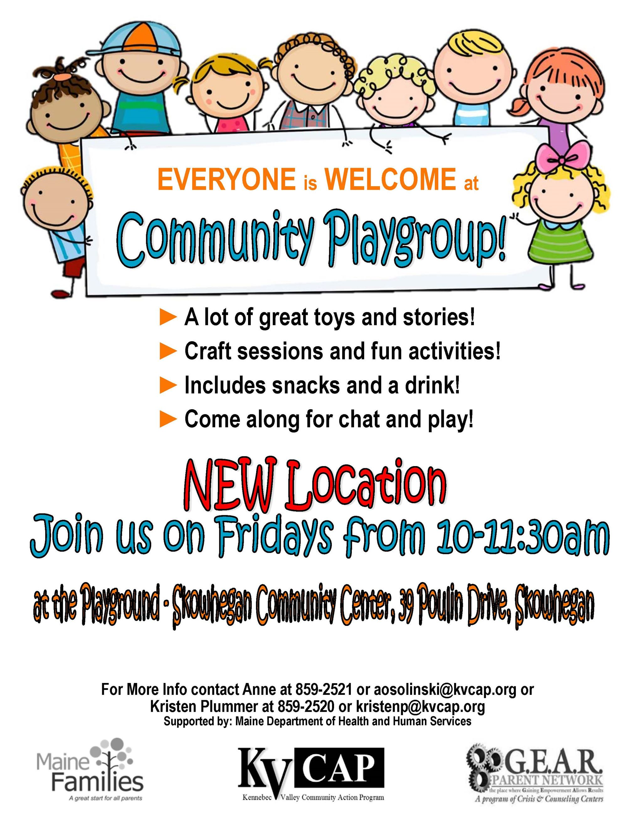 2019 Summer Skowhegan Community Playgroup